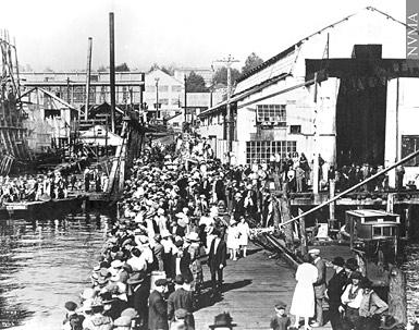 Photo of the launch of the Princess Louise