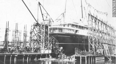 Photo of Princess Louise under construction